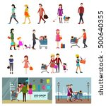 shopping activities design... | Shutterstock .eps vector #500640355
