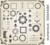 vintage set of black classic... | Shutterstock .eps vector #500643085