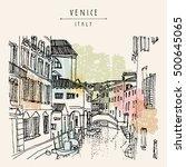 venice  italy  europe. hand... | Shutterstock .eps vector #500645065