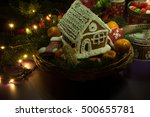 new year christmas cookies with ...   Shutterstock . vector #500655781