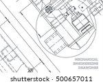 mechanical engineering drawing. ... | Shutterstock . vector #500657011