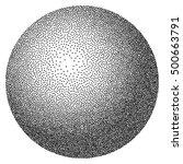 dot work sphere  vintage... | Shutterstock .eps vector #500663791