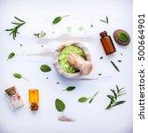 aromatic sea salt with aromatic ... | Shutterstock . vector #500664901