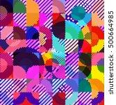 abstract vector background dot... | Shutterstock .eps vector #500664985