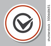 tick icon vector