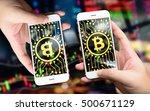 distributed ledger technology   ... | Shutterstock . vector #500671129