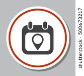calendar icon vector | Shutterstock .eps vector #500673217