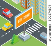 city format. urban crossroads... | Shutterstock .eps vector #500674879