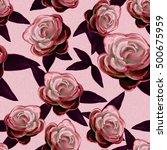 seamless background. flowers.... | Shutterstock . vector #500675959