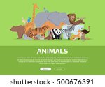 Animals Banner. Various Animal...