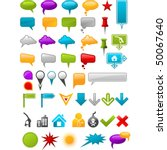 message containers and map... | Shutterstock .eps vector #50067640