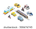 public transportation. traffic... | Shutterstock .eps vector #500676745
