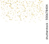 gold confetti celebration... | Shutterstock .eps vector #500678404
