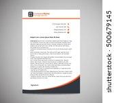 abstract creative letterhead... | Shutterstock .eps vector #500679145