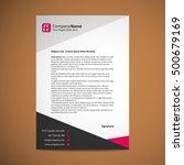 abstract creative letterhead... | Shutterstock .eps vector #500679169