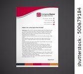 abstract creative letterhead... | Shutterstock .eps vector #500679184