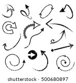 set of trendy hand drawn arrows | Shutterstock .eps vector #500680897