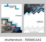 vector brochure cover templates ... | Shutterstock .eps vector #500681161