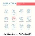 charity   modern vector line... | Shutterstock .eps vector #500684419