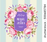 marriage invitation card.... | Shutterstock .eps vector #500685784