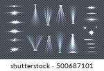 set of bright lights on... | Shutterstock . vector #500687101
