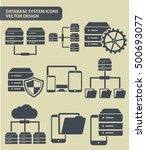 database system and network... | Shutterstock .eps vector #500693077