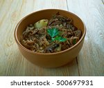 clemole traditional dish in... | Shutterstock . vector #500697931