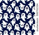happy halloween seamless... | Shutterstock .eps vector #500701534