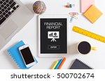 financial report concept | Shutterstock . vector #500702674