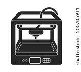 3d printer in  black style... | Shutterstock .eps vector #500705911
