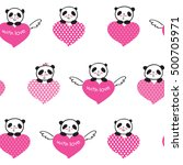 seamless pattern with cute... | Shutterstock .eps vector #500705971