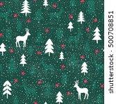 seamless christmas pattern | Shutterstock .eps vector #500708851