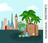 travel concept vector... | Shutterstock .eps vector #500709871