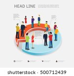 business process concept with... | Shutterstock .eps vector #500712439