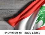 3d rendering of lebanon flag... | Shutterstock . vector #500713069