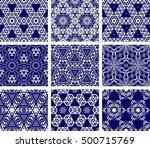 set of 9 monochrome geometrical ...   Shutterstock .eps vector #500715769