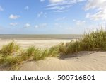 North Sea Beach And Dunes At...