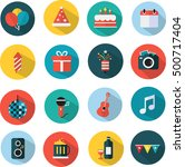icon set for party and...   Shutterstock .eps vector #500717404