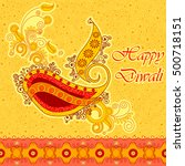 vector design of diwali... | Shutterstock .eps vector #500718151