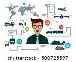 logistic concept infographic... | Shutterstock .eps vector #500725597