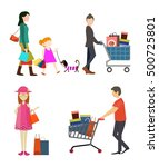 shopping people icons in... | Shutterstock .eps vector #500725801