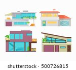 set of houses  buildings and... | Shutterstock .eps vector #500726815