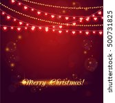 christmas abstract background... | Shutterstock .eps vector #500731825