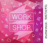 poster design for event  online ... | Shutterstock .eps vector #500731951