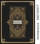 whiskey label with old frame | Shutterstock .eps vector #500735077