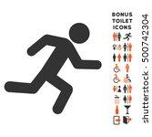 running man icon and bonus... | Shutterstock .eps vector #500742304