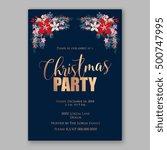 christmas party invitation... | Shutterstock .eps vector #500747995