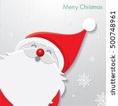 christmas card   santa claus  ... | Shutterstock .eps vector #500748961