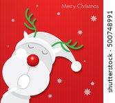 christmas card   reindeer  ... | Shutterstock .eps vector #500748991