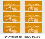gift card with a gift box.... | Shutterstock .eps vector #500750191